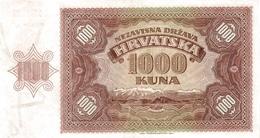 CROATIA P.  4a 1000 K 1941 UNC - Croatie