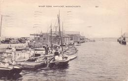 Alte  AK   NANTUCKET / Massachusetts / USA   - Wharf Scene -  Gelaufen 1953 - Nantucket