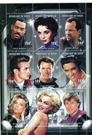 Niger 1997, Actors And Singers, Elvis, M. Monroe, 9val In BF - Elvis Presley