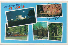 Grertings Froml St Louis - Missouri - Timbres Reproduits  (110456) - Timbres (représentations)