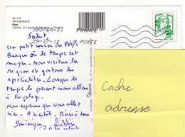 France Marianne De Ciappa En Lettre Verte. Oblitérée à Sare Au Pays Basque En 2017. - 2013-... Marianne Of Ciappa-Kawena