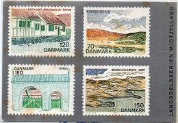 DANEMARK  - 4 Timbres Reproduits - Landsdelsserien Midtjylland (110457) - Timbres (représentations)