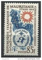 """Mauritanie YT 177 """" Météréologie """" 1964 Neuf** - Mauritanie (1960-...)"""