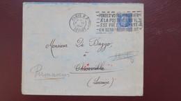 Lettre Decembre 1941 Pour Thionville Lorraine Censure Allemande Au Verso Voir Scans - Guerra De 1939-45