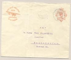 Nederlands Indië - 1931 - 12,5 Cent Wilhelmina Met Luchtpostreklame, Envelop G54b Van Toeloenagoeng Naar Batavia - Nederlands-Indië