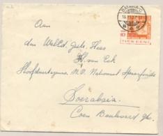 Nederlands Indië - 1937 - 10 Op 12,5 Cent Wilhelmina, Envelop G56b Van Batavia Naar Soerabaja - Nederlands-Indië