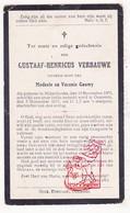 DP Kind Oorlogsslachtoffer WO I 14 -18 Gustaaf H. Verbauwe / Gouwy 12j. ° Middelkerke 1905 † Oostende 1917 - Images Religieuses