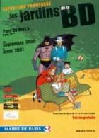 JUILLARD : Carte Postale JARDINS DE BD  ( Batman ) - Juillard