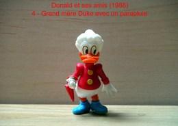 """Kinder 1988 : Grand-mère Duke Avec Parapluie """"Donald & Ses Amis"""" - Dessins Animés"""