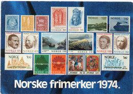 NORGE (NORVEGE) Timbres  Reproduits - Norske Frimerker 1974 (110464) - Timbres (représentations)