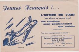 Vieux  Papier :Buvard  : Armée De L ' Air , CAEN  , Avion - Buvards, Protège-cahiers Illustrés