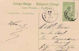 CONGO BELGE  :  Entier Sur Carte Postale De 1914 : Chemin De Fer Du Bas Congo - Congo Belge