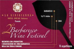 [MD2405] CPM - LA GIBIGIANNA - 2° BARBARESCO WINE FESTIVAL 2004 - PUBBLICITARIA - NV - Vigne