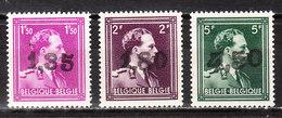 724AA/CC**  Leopold III Col Ouvert Surchargé GHISLENGHIEN - Série Complète - MNH** - LOOK!!!! - 1946 -10%
