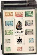 CANADA -  Timbres  Reproduits - Centennial Issue - Emission Du Centenaire 1867 - 1967  CP 2 Volets (110465) - Timbres (représentations)