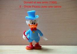 """Kinder 1988 : Picsou Avec Cane Rouge Et Habits Bleu Clair """"Donald & Ses Amis"""" - Dessins Animés"""