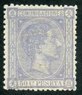 España 1875. Edifil 168* - 50 Céntimos Lila - Cat. 2016: 265€ - Alfonso XII - 1875-1882 Reino: Alfonso XII
