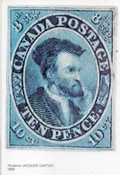 Canada Postage - Ten Pence (Timbre Reproduit) Jacques Cartier (110467) - Timbres (représentations)