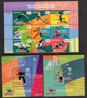 INDONESIA, 2018, MNH, 18th ASIAN GAMES, FOOTBALL, BASKETBALL, VOLLEYBALL,SWIMMING, MARTIAL ARTS, ATHLETICS, 9v+ 2 S/S - Soccer
