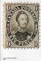 Canada Postage - Six Pence  (Timbre Reproduit) Prince Albert  (110469) - Timbres (représentations)