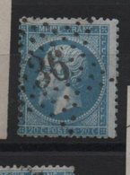 Etoile 36 Sur Yvert  22 - Marcophilie (Timbres Détachés)
