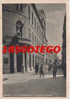 TRAPANI - VIA TORREARSA E PALAZZO FINANZE  F/GRANDE VIAGGIATA 1942 ANIMATA - Trapani