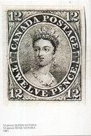 Canada Postage - Twelve Pence   (Timbre Reproduit) Reine Victoria  (110470) - Timbres (représentations)
