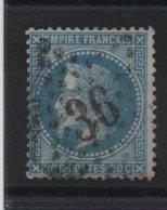 Etoile 36 Sur Yvert  29 - Marcophilie (Timbres Détachés)