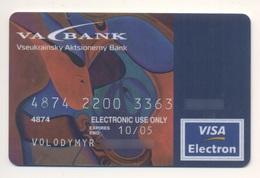 Credit Card Bankcard UKRAINE VA Bank Exp 10.2005 VISA Art Painting - Cartes De Crédit (expiration Min. 10 Ans)
