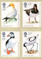 RSPB 1889-1989 - Timbres Reproduits - Canards : Avocet - Oystercatcher - Gannet - Puffin   (110472) - Timbres (représentations)