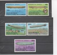 CONGO -  Aviation - Zeppelins , Restrospective - LZ 120, LZ 127 Graf Zeppelin II, Victoria Louise LZ II, - Congo - Brazzaville