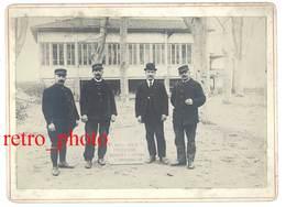 Photo Sur Carton : 11 R.A. 105 B Menuiserie - Banquet De La Victoire 11 Novembre 1918 - Guerre, Militaire