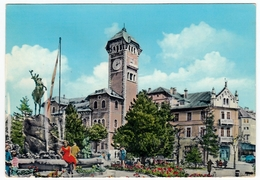 ASIAGO - PIAZZA CARLI E FONTANA MONUMENTALE - VICENZA - 1964 - Vedi Retro - Vicenza