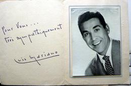 LUIS MARIANO GRANDE PHOTO AVEC DEDICACE IMPRIMEE EN REGARD CIRQUE PINDER - Dédicacées