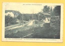 """Carte Postale En Noir & Blanc """" Le Funiculaire Du Salève-station D'Etremblières """" à Annemasse - Annemasse"""