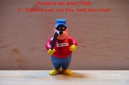 """Kinder 1988 : TRES RARE : Rapetou Avec Lime Habit Bleu Et Rouge """"Donald & Ses Amis"""" - Dessins Animés"""