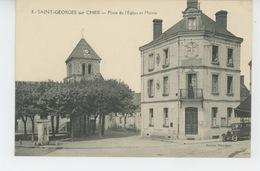 SAINT GEORGES SUR CHER - Place De L'Eglise Et Mairie - France