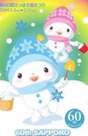 Telecarte BONHOMMES DE NEIGE (110) SNOWMEN -Snowman - Sneeuwman - BD