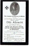 Sterbebild Otto ALBRECHT - Leutnant Res. Im Bayer. 12. Res.-Inf.-Regt. - Gevallen Bij ARRAS (F) 1915 - 1914-18