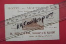 Pub Hotel Du Mouton Blanc Noleau Mont St Michel - Werbung