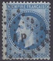 Losange Des Ambulants A P, Auxerre à Paris Sur Lauré N°29. - Marcophilie (Timbres Détachés)