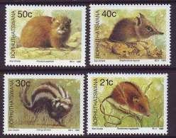 D101225 Bophuthatswana 1990 South Africa RHODENTS MICE SKUNKS Mammals MNH Set - Afrique Du Sud Afrika RSA Sudafrika - Bophuthatswana