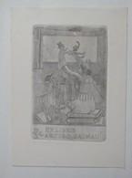 Ex-libris Illustré Belgique XXème - Arturo DALMAU - Théatre - Marionnettes - Ex Libris