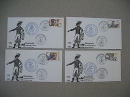 Lettre Cachet Commémoratif 1991  Bicentenaire Du Statut Des Officiers De Port De France - Commemorative Postmarks