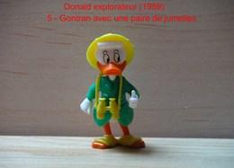 "Kinder 1989 : Gontran Avec Jumelles Jaune ""Donald Explorateur"" - Dessins Animés"