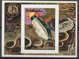AJMAN - BLOC  ** NON DENTELE (1971) ESPACE- Apollo 14 - Space