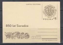 Poland 1986 850th Anniv Of Sieradz - Stamped Stationery
