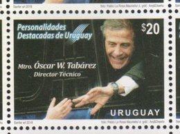 URUGUAY, 2018, MNH,FOOTBALL, SOCCER, WORLD CUP 2018, COACH ÓSCAR TABÁREZ,1v - World Cup