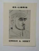 Ex-libris Illustré Belgique XXème - Commandant A. HERRY - Ex Libris