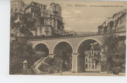 MONACO - MONTE CARLO - Pont Et Chapelle Sainte Dévote (passage Train ) - Monte-Carlo